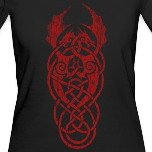 celtic dragon red - Women's Organic T-shirt