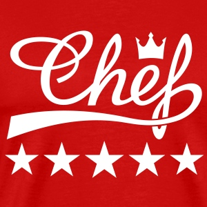 5 Stars Chef * Cooking King Cook Queen of kitchen  - Men's Premium T-Shirt