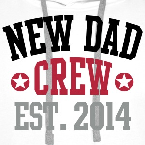NEW DAD CREW Established 2014 3C Hoodie WH - Premiumluvtröja herr
