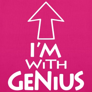 Im with Genius v1 (1c) Bags & backpacks - EarthPositive Tote Bag