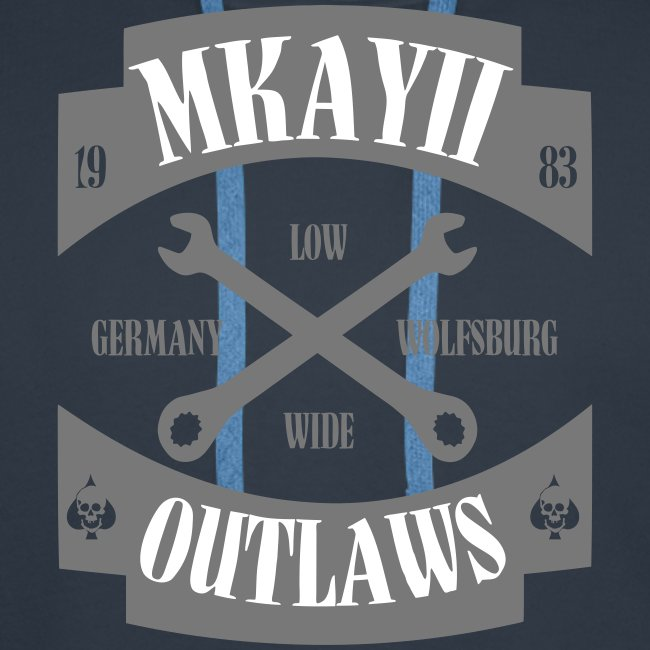 dIIb  Mkay2 Outlaws-Hoodie grau