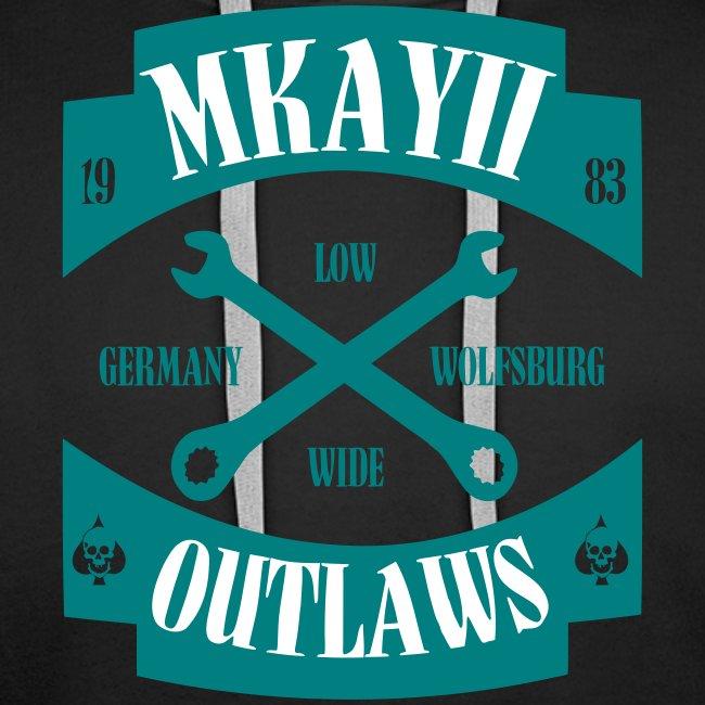 dIIb  Mkay2 Outlaws-Hoodie emerald-weiss