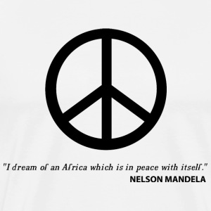 White Nelson Mandela Quote T-Shirts - Men's Premium T-Shirt