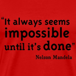 Red Nelson Mandela Quote T-Shirts - Men's Premium T-Shirt