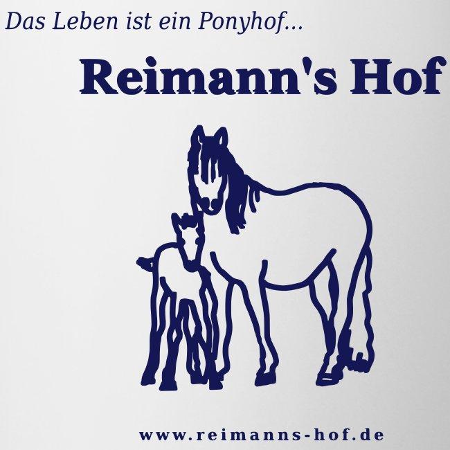Tasse 'Reimann's Hof' - Stute mit Fohlen -