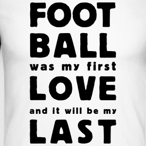 football was my first love Skjorter med lange armer - Langermet baseball-skjorte for menn