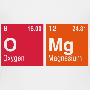 OMg written with Elements of the Periodic Table Shirts - Kids' Premium T-Shirt