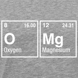 OMg written with Elements of the Periodic Table T-Shirts - Men's Premium T-Shirt