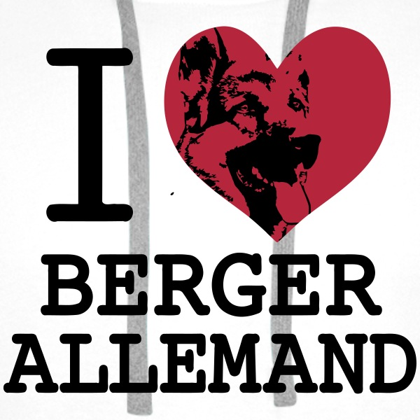 I love Berger Allemand 2 Sweat-shirts - Sweat-shirt à capuche Premium pour hommes