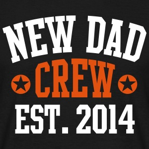 NEW DAD CREW Established 2014 2C T-Shirt BL - Mannen T-shirt