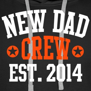 NEW DAD CREW Established 2014 2C Hoodie BL - Premiumluvtröja herr