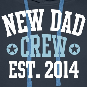 NEW DAD CREW Established 2014 2C Hoodie NV - Premiumluvtröja herr