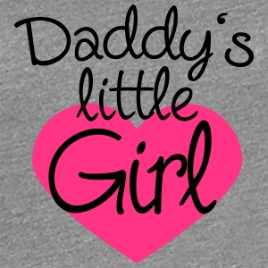 Daddys Little Girl Heart Logo T-skjorter - Premium T-skjorte for kvinner