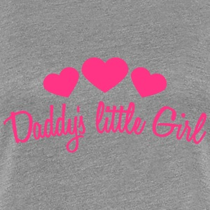 Daddys Little Girl Heart T-Shirts - Frauen Premium T-Shirt