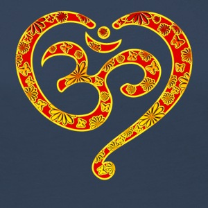Yoga Heart OM Mantra Symbol Love Spirituality  Long Sleeve Shirts - Women's Premium Longsleeve Shirt