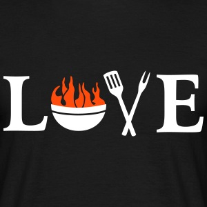 I love Barbeque Grill Grilling Chef BBQ T-Shirts - Men's T-Shirt