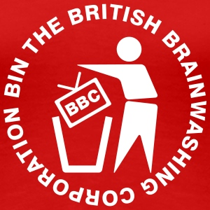 bin the british brainwashing corporation - Women's Premium T-Shirt