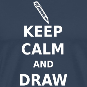 Keep Calm and Draw T-Shirts - Men's Premium T-Shirt