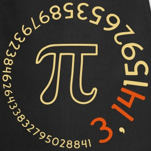 Number Pi round v2 (2c)  Aprons - Cooking Apron