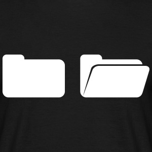 Folder on computer  T-Shirts - Men's T-Shirt