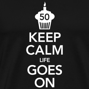 Keep Calm -50 Birthday T-Shirts - Men's Premium T-Shirt