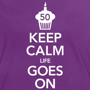 Keep Calm -50 Birthday T-shirts - Vrouwen contrastshirt