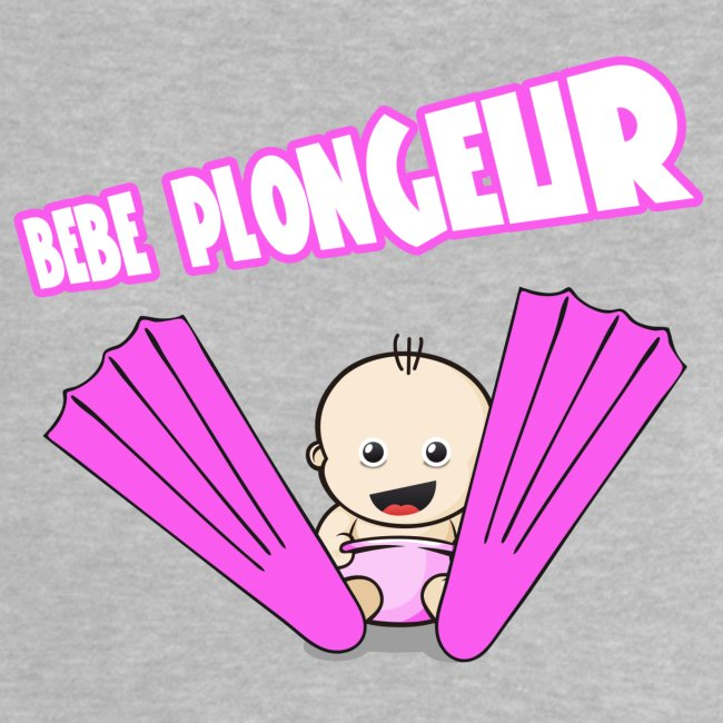 BB Plongeur ! Fille Gris