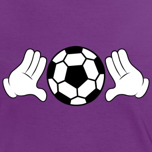 Comic Hands with Football Magliette - Maglietta Contrast da donna
