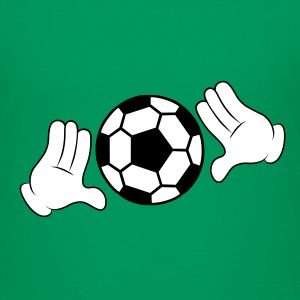 Comic Hands with Football Shirts - Kids' Premium T-Shirt