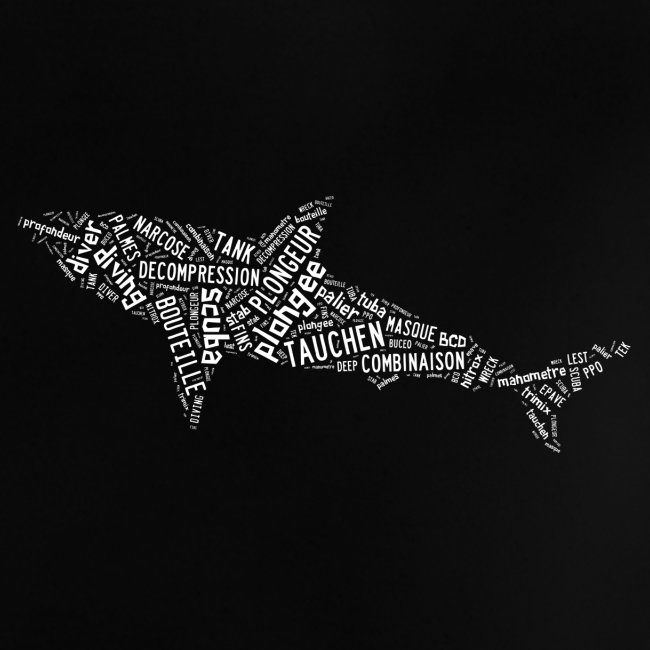 T-shirt Sharktag Noir