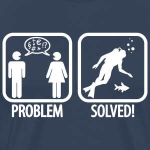 Scuba Diving: Problem - Solved! T-Shirts - Men's Premium T-Shirt