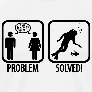 Scuba Diving: Problem - Solved! T-shirts - Herre premium T-shirt