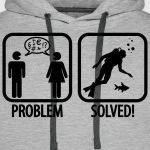 Scuba Diving: Problem - Solved! Hoodies & Sweatshirts - Men's Premium Hoodie
