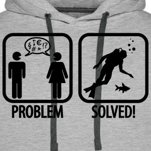 Scuba Diving: Problem - Solved! Sweaters - Mannen Premium hoodie