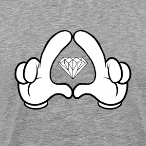 The Gloves and Diamonds Tee - Mannen Premium T-shirt