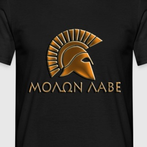 Molon lave-Spartan warrior-Lithos font - Men's T-Shirt