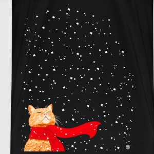 Tabby with Scarf T-Shirts - Men's Premium T-Shirt