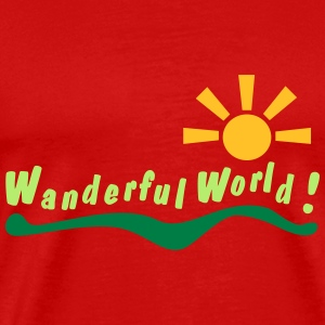 wanderful world T-shirts - Herre premium T-shirt