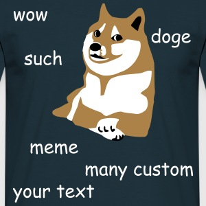 Doge - wow such custom many internet meme so text - Men's T-Shirt