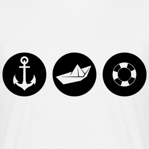 Woede Paper Boat lifebelt  T-shirts - Mannen T-shirt