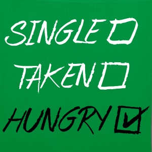 Single Taken Hungry, EUshirt, www.eushsirt.com Bags & backpacks - Tote Bag
