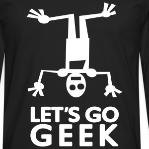 Lets go GEEK (1c) Long sleeve shirts - Men's Premium Longsleeve Shirt