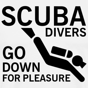 Scuba divers go down for pleasure T-skjorter - Premium T-skjorte for menn