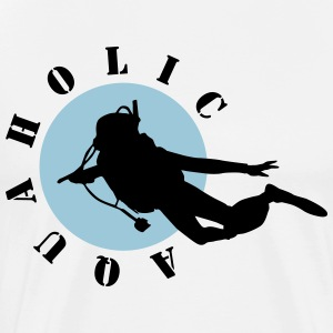Diving: Aquaholic T-shirts - Mannen Premium T-shirt