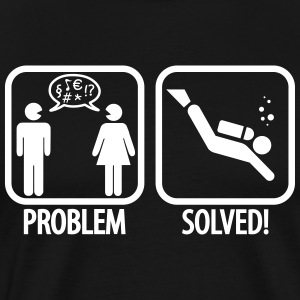 Diving: Problem - Solved! T-shirts - Herre premium T-shirt