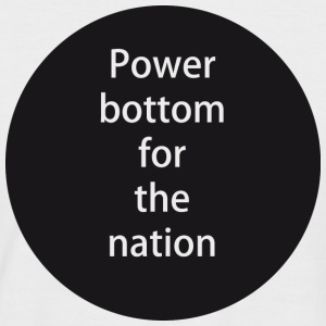 Power bottom for the nation - T-shirt baseball manches courtes Homme