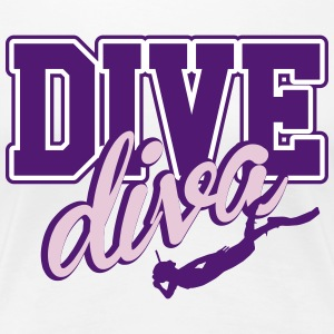 Dive Woman T-Shirts - Frauen Premium T-Shirt
