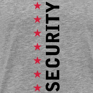 Security Text Logo T-shirts - Herre premium T-shirt