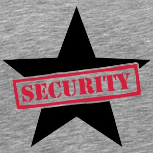 Security Star Stamp T-shirts - Herre premium T-shirt