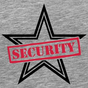 Security Stamp Design T-shirts - Herre premium T-shirt